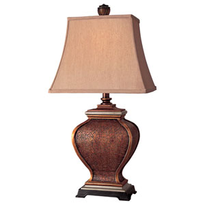 Antique Bronze and Silver Table Lamp