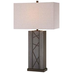Smoked Iron Two-Light Portable Table Lamp