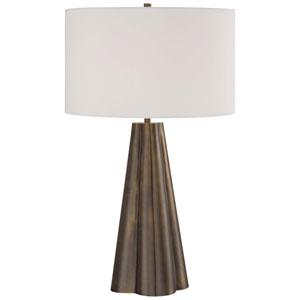 Bronze One-Light Portable Table Lamp