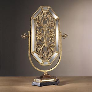 Jessica McClintock Home Romance Tuscan Gold Mirror