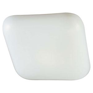 White 11-In. One-Light Cloud Kitchen Fluorescent