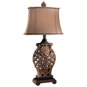 Weathered Lattice 11-Inch One-Light Table Lamp