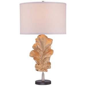 Gold Leaf 17-Inch One-Light Table Lamp