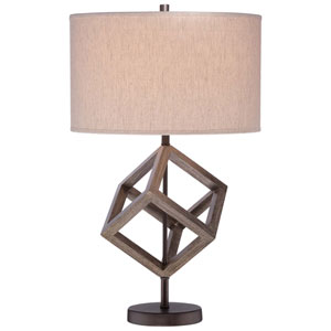 Walnut 15-Inch One-Light Table Lamp