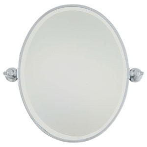 Chrome Oval Mirror