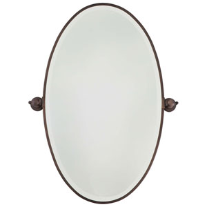 Dark Brushed Bronze Oval Mirror