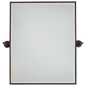 Dark Brushed Bronze Beveled Rectangle Mirror
