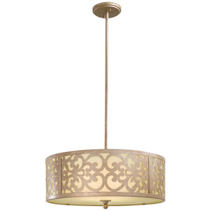 Nanti Three-Light Champagne Silver Chandelier