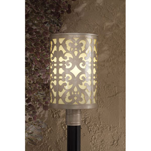 Nanti One-Light Champagne Silver Outdoor Post Mount