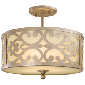 Nanti Three-Light Champagne Silver Semi Flush