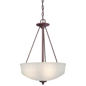 1730 Series Lathan Bronze Three-Light Pendant
