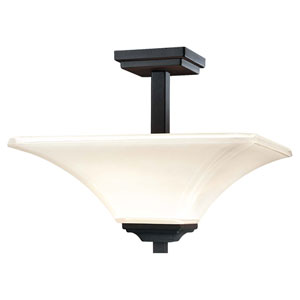 Agilis Black Semi-Flush Ceiling Light