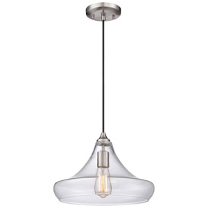 Brushed Nickel 9-Inch High One-Light Pendant