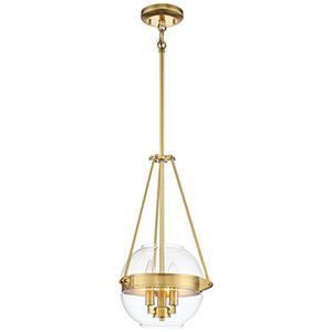Atrio Liberty Gold 12-Inch Three-Light Pendant
