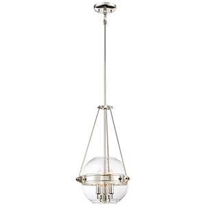 Atrio Polished Nickel 12-Inch Three-Light Pendant