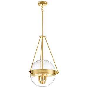 Atrio Liberty Gold 16-Inch Three-Light Pendant