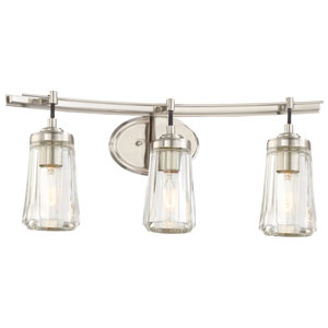 Poleis Brushed Nickel Three-Light Vanity