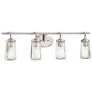 Poleis Brushed Nickel Four-Light Vanity