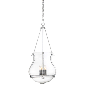 Atrio Chrome 20-Inch Four-Light Pendant