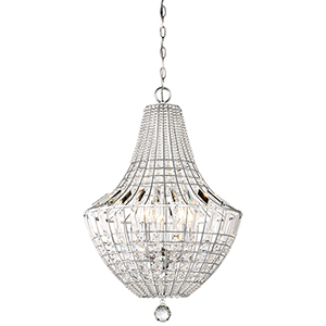 Braiden Chrome 18-Inch Five-Light Chandelier
