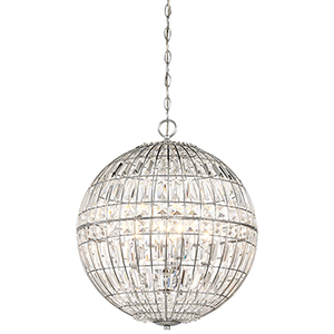 Palmermo Chrome 18-Inch Five-Light Pendant