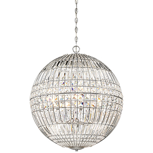 Palermo Chrome 24-Inch Six-Light Pendant