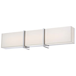 High Rise Chrome 24.25-Inch Wide LED Wall Sconce