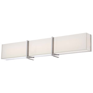 High Rise Chrome 30.25-Inch Wide LED Wall Sconce