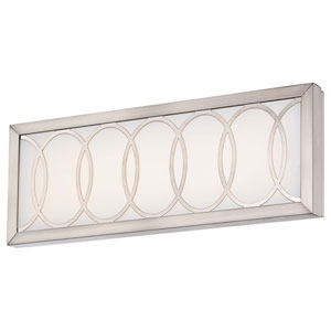 Celice Brushed Nickel 16.25-Inch Wide LED Wall Sconce