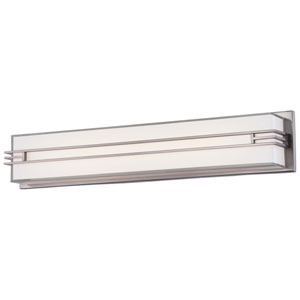 Brushed Nickel 27-Inch LED Wall Sconce