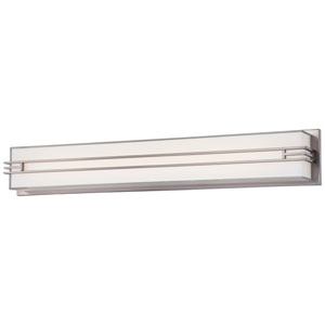 Brushed Nickel 32-Inch LED Wall Sconce