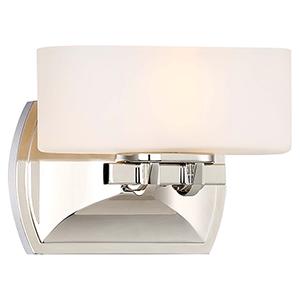 Drury Polished Nickel 8-Inch One-Light Bath Light