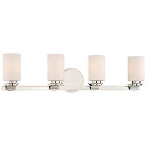Arrondir Polished Nickel 34-Inch Four-Light Bath Light