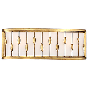 Olivetas Il Terrace Gold Leaf 20-Inch Three-Light Bath Light