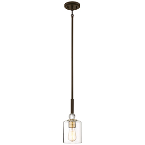 Studio 5 Painted Bronze 5-Inch One-Light Mini Pendant