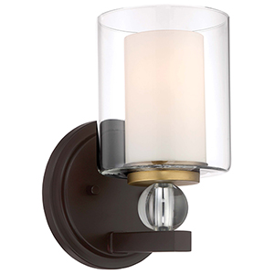Studio 5 Painted Bronze 6-Inch One-Light Bath Light