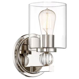 Studio 5 Polished Nickel 6-Inch One-Light Bath Light