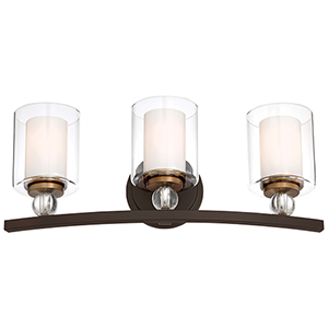 Studio 5 Painted Bronze 24-Inch Three-Light Bath Light