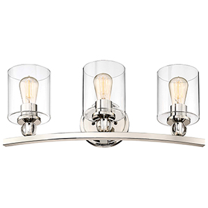 Studio 5 Polished Nickel 24-Inch Three-Light Bath Light