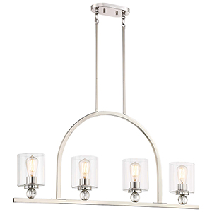 Studio 5 Polished Nickel 5-Inch Four-Light Island Pendant