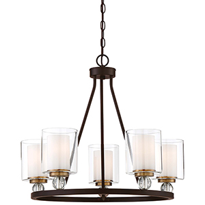 Studio 5 Painted Bronze 26-Inch Five-Light Chandelier