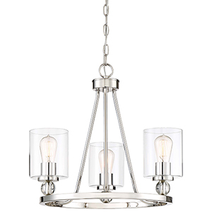 Studio 5 Polished Nickel 22-Inch Three-Light Chandelier