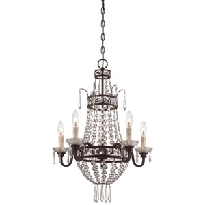 Deep Lathan Bronze Five Light Chandelier