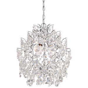 Chrome 14-Inch Three-Light Chandelier