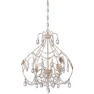 Provencal Blanc 18-Inch Three-Light Chandelier