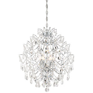 Isabellas Crown Chrome Six-Light Chandelier