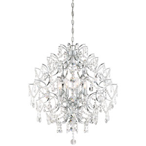 Isabellas Crown Chrome Eight-Light Chandelier