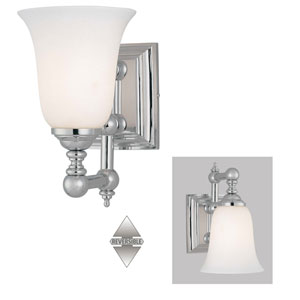 Tafalla Chrome One-Light Bath Fixture