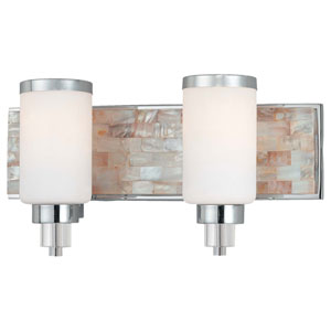 Cashelmara Chrome Two-Light Bath Fixture