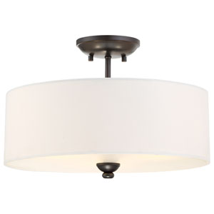 Shadowglen Lathan Bronze with Gold Highlight Three-Light Semi-Flush Mount